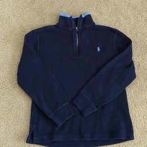 Polo Ralph Lauren boys 1/4 zip sweater EUC